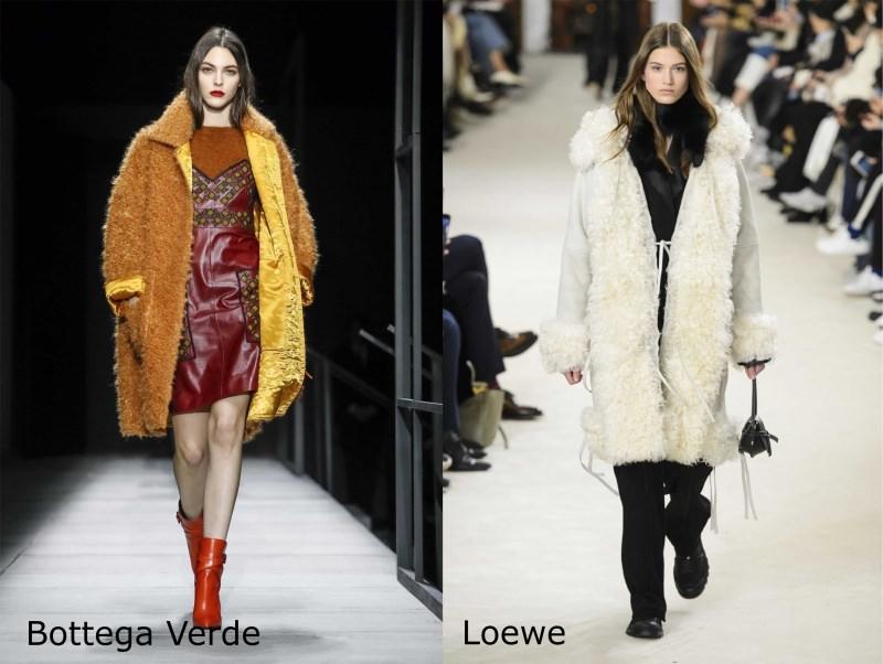 Moda, quali stili vedremo il prossimo autunno/inverno 2018 2019 montoni shearling Bottega Verde Loewe