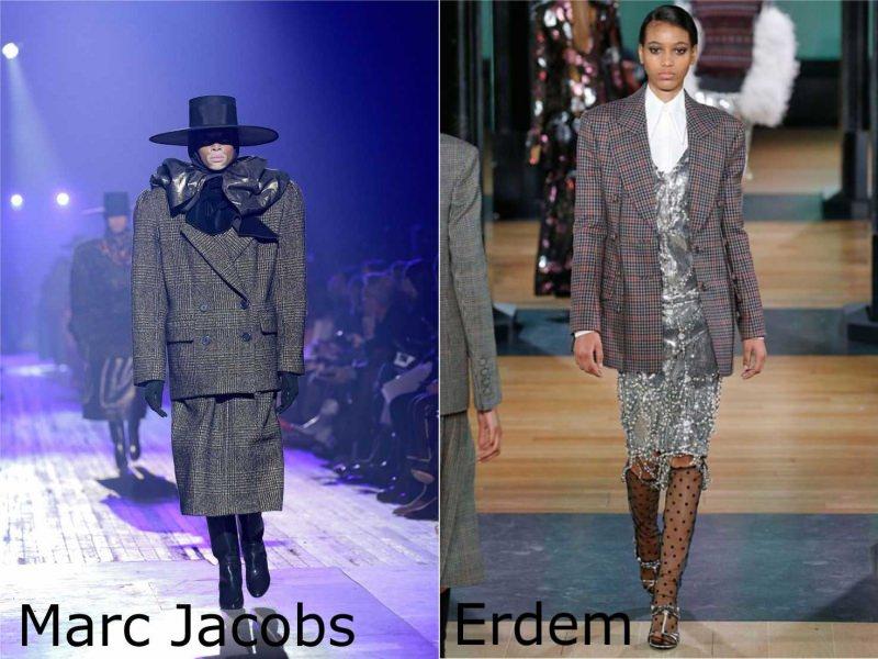 Moda donna cosa comprare per rinnovare il guardaroba autunno inverno blazer giacca capospalla gonna principe di Galles Marc Jacobs abito argento Erdem