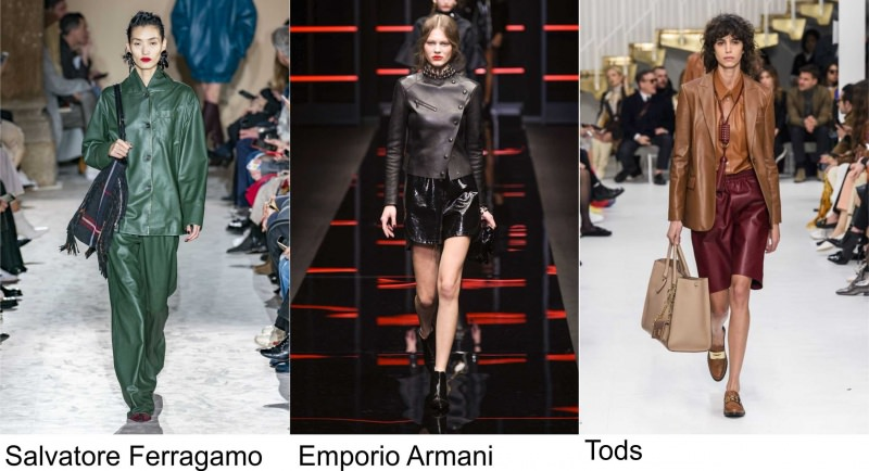 Salvatore Ferragamo moda donna Emporio Armani Fashion pelle Tods autunno inverno