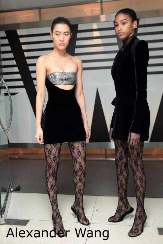 Moda donna cosa comprare per rinnovare il guardaroba autunno inverno calze collant nero Alexander Wang