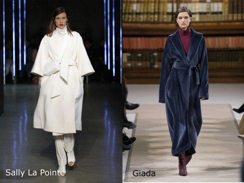 Moda donna cosa comprare per rinnovare il guardaroba autunno inverno cappotto bianco Sally La Pointe lungo extra blu Giada
