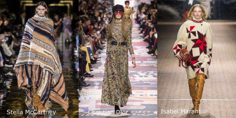 Moda, quali stili vedremo il prossimo autunno/inverno 2018 2019 stile etnico folk Stella McCartney Christian Dior Isabel Marant