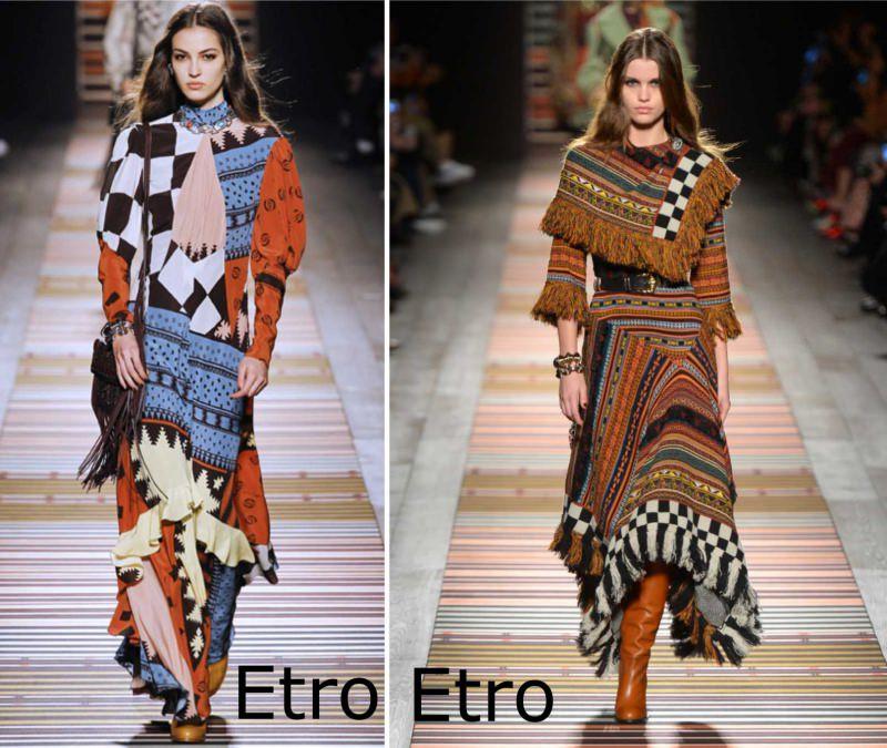 Moda cosa comprare per rinnovare il guardaroba autunno inverno abiti etno Etro stivali frange