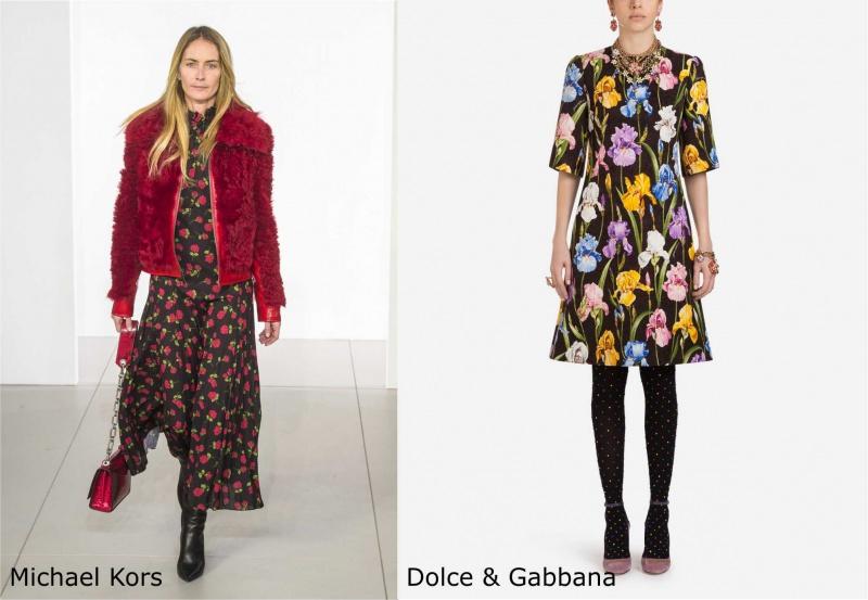 Moda donna cosa comprare per rinnovare il guardaroba autunno inverno giubbotto pelliccia rossa abito lungo a fiori Michael Kors abito corto Dolce & Gabbana