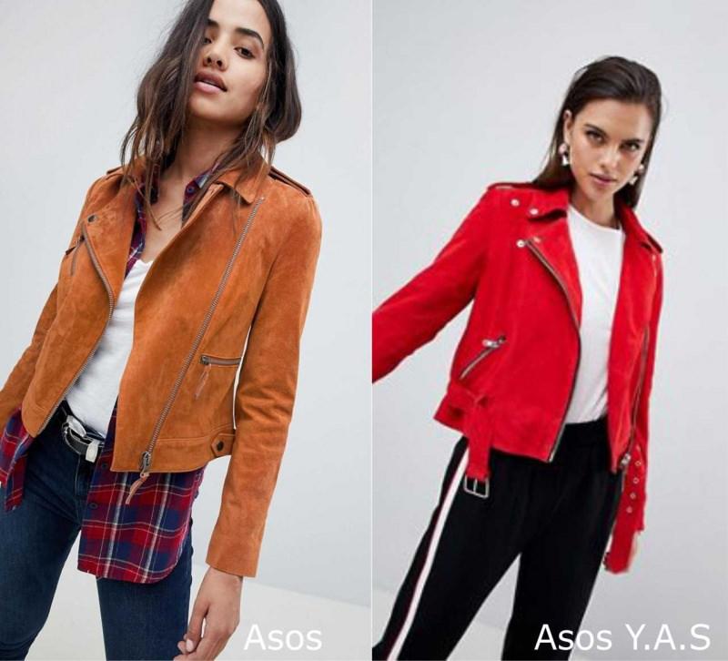 Moda donna cosa comprare per rinnovare il guardaroba autunno inverno 2018 2019 giubbotto biker ruggine Asos scamosciato rosso Asos Y.A.S.