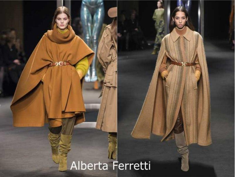 Moda donna cosa comprare per rinnovare il guardaroba autunno inverno mantella Alberta Ferretti