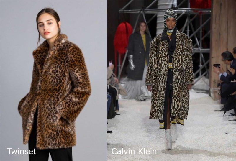 Moda donna cosa comprare per rinnovare il guardaroba autunno inverno pelliccia sintetica animalier leopardato giacca Twinset cappotto Calvin Klein