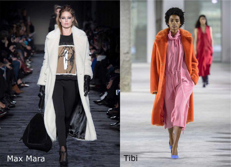 Moda donna cosa comprare per rinnovare il guardaroba autunno inverno cappotto pelliccia sintetica bianca Max Mara colorata arancione Tibi abito rosa