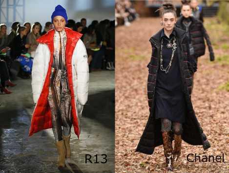 Moda donna cosa comprare per rinnovare il guardaroba autunno inverno piuminobianco rosso R13 quilted nero Chanel