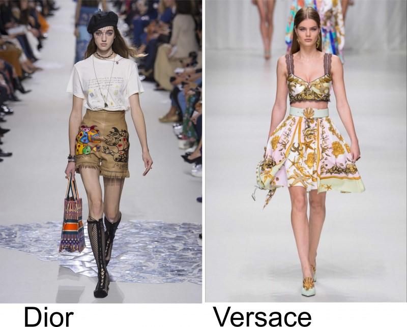 Moda 2018, le tendenze principali primavera estate sfilata moda modelle Dior Versace