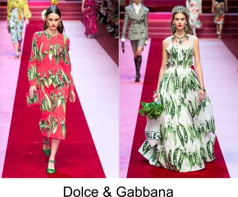 Moda 2018, le tendenze principali primavera estate sfilata Dolce & Gabbana fashion modelle