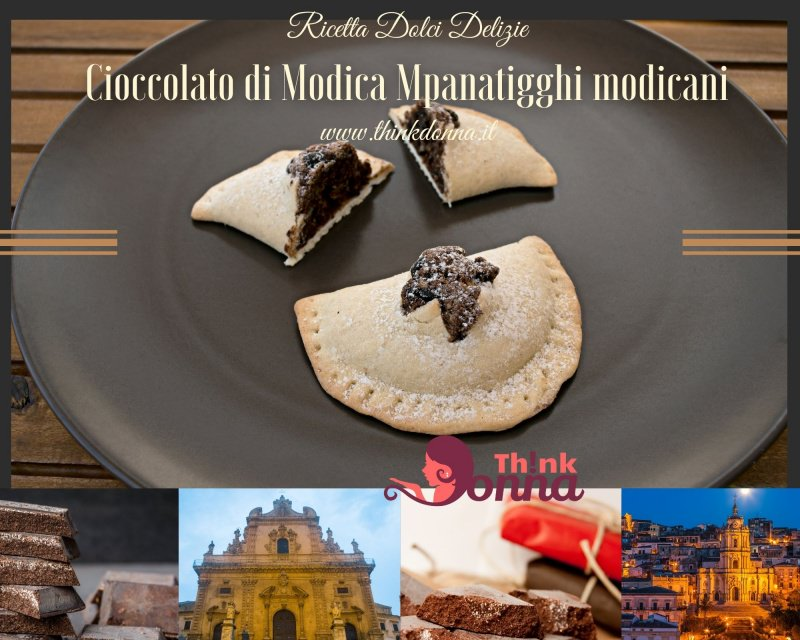 mpanatigghi cioccolato di Modica piatto pronto dolce