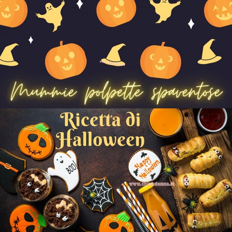 mummie polpettespaventose ricetta Halloween zucca