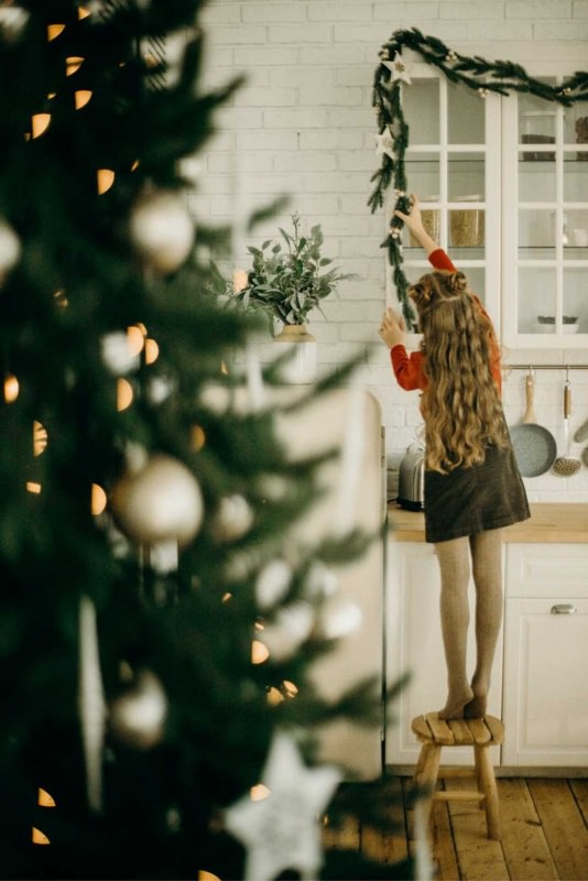 Natale decorazioni casa albero