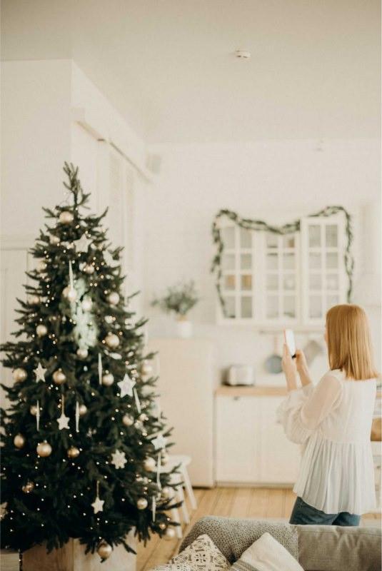 Natale albero decorazioni casa