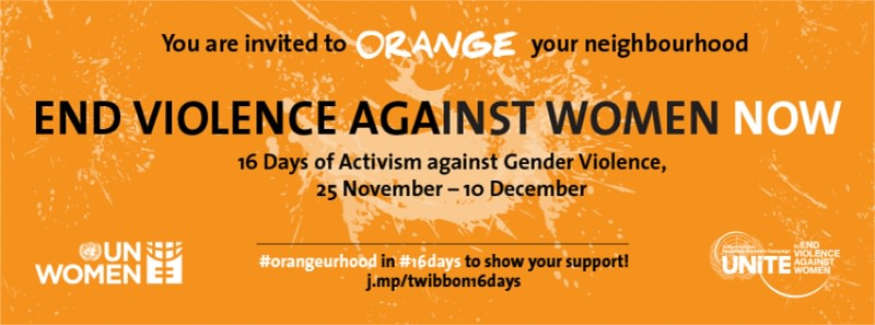 Orange YOUR Neighbourhood orange days 25 novembre giornata internazionale per l'eliminazione della violenza contro le donne