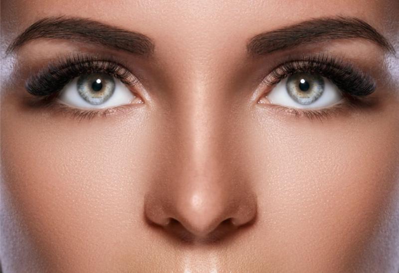 sopracciglia perfette laminazione occhi azzurri ciglia folte