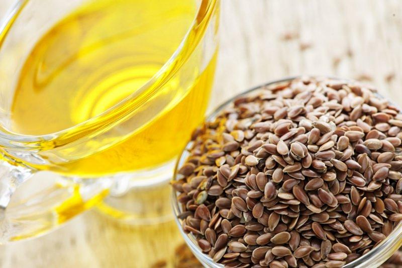 semi di lino ciotola olio