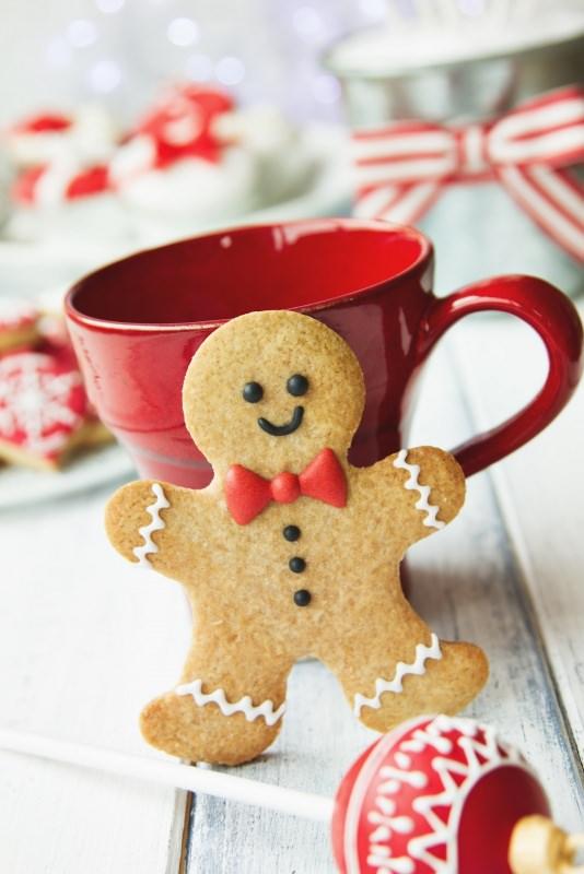 omino di pan di zenzero gingerbread natalizi