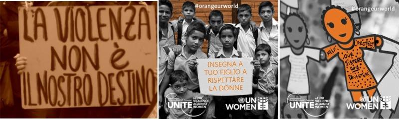 25 novembre giornata internazionale per l'eliminazione della violenza contro le donne orange days Orange your neighbourhood insegna a tuo figlio a rispettare le donne