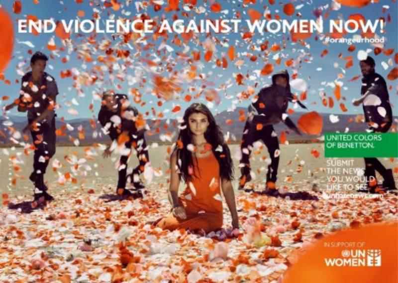 campagna United Colors of Benetton 25 novembre, Giornata internazionale per l'eliminazione della violenza contro le donne a supporto di UN Women