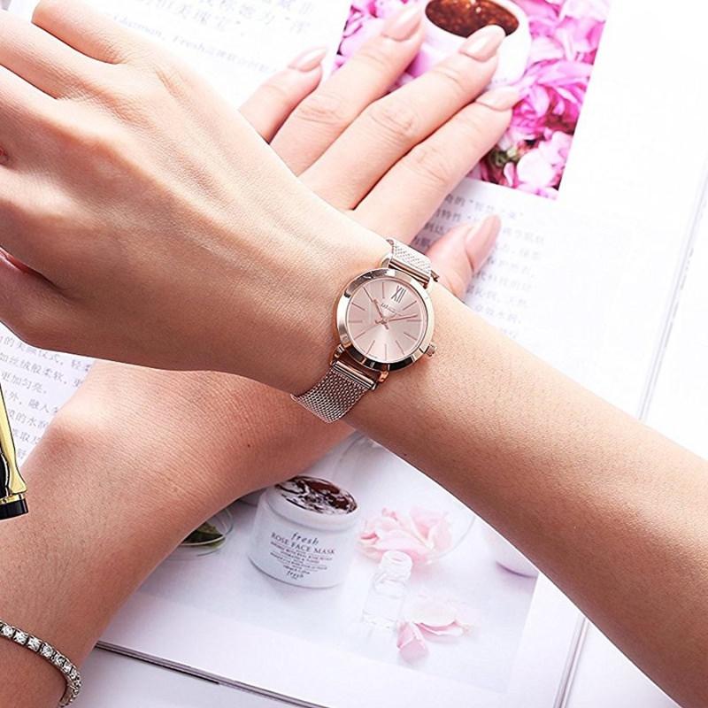 Orologi da donna, la moda per l'estate 2018 mano orologio da polso cinturino maglia milanese metallo