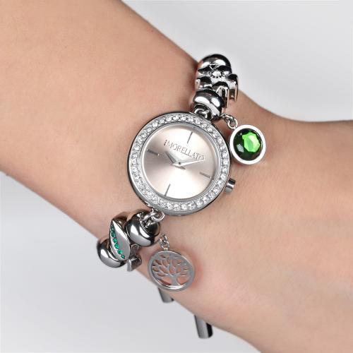 Orologi da donna, la moda per l'estate 2018 modello Morellato strass charms pietra verde