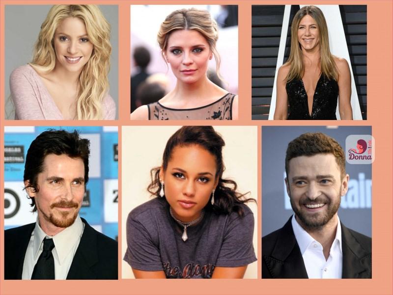 Oroscopo del 2018 celebrità stelle star famosi nati sotto il segno dell'Acquario Shakira, Misha Barton, Jennifer Aniston, Christian Bale, Alicia Keys, Justin Timberlake