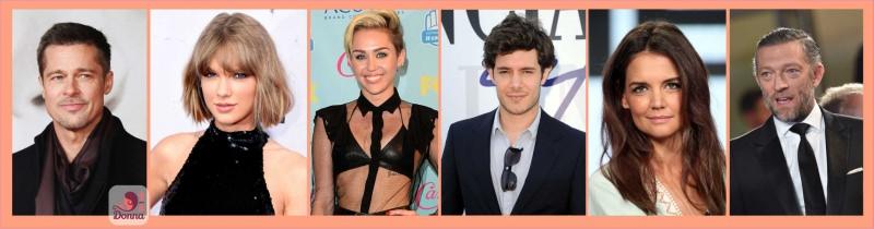 Oroscopo del 2018 celebrità stelle star famosi nati sotto il segno del sagittario Brad Pitt, Taylor Swift, Miley Cyrus, Adam Brody, Katie Holmes, Vincent Cassel