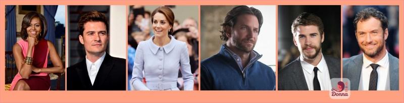 Oroscopo del 2018 celebrità stelle star famosi nati sotto il segno del Capricorno Michelle Obama, Orlando Bloom, Kate Middleton, Bradley Cooper, Liam Hemsworth, Jud Law