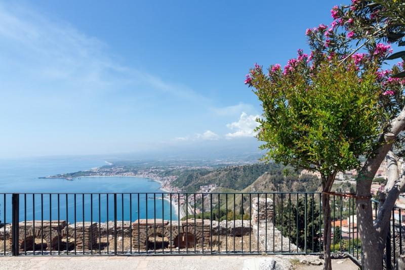 sicilia panorama etna visto da taormina