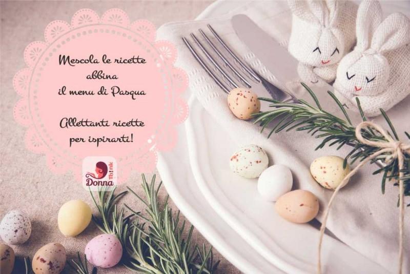 Mescola le ricette abbina il menu di Pasqua allettanti ricette per ispisrarti decorazioni pasquali coniglietti stoffa simpatici segnaposto rametto rosmarino spago porta posate forchetta uova di quaglia tovaglia piatto