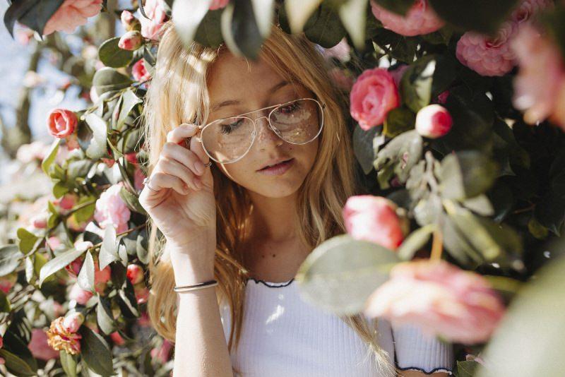 vido donna occhiali da vista rose rosa
