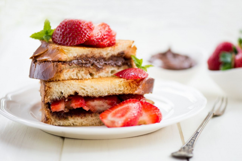 french toast fragole nutella dessert dolce