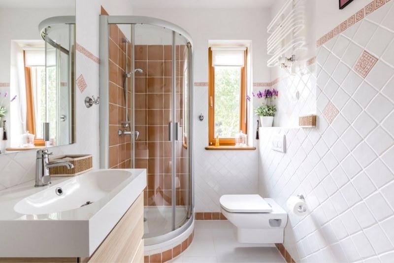 piccolo accogliente bagno con doccia