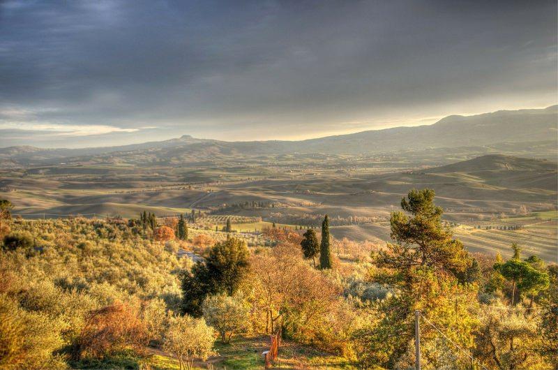 weekend d'autunno romantico in Toscana Pienza campagna