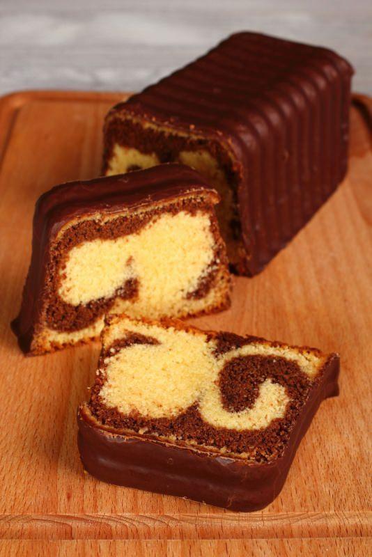 tagliere plumcake cioccolato vaniglia variegato sponge cake ganache tagliere fette