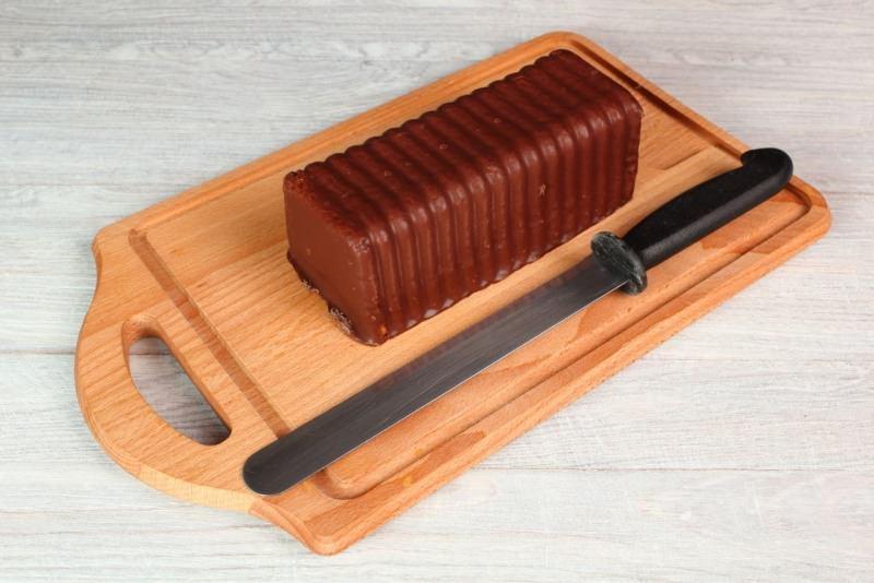 plumcake cioccolato ganache tagleire coltello