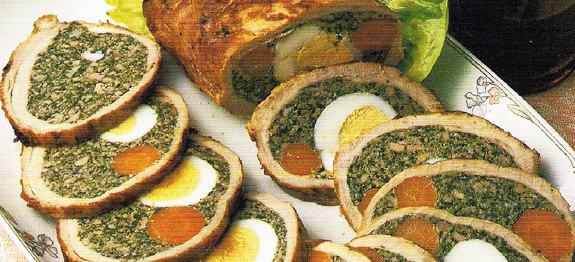 Arrosto Tasca di vitello agli spinaci | Patate arrosto contorno Il menu di San Valentino per preparare una cena romantica
