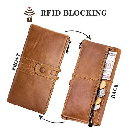 portafogli da donna di pelle ROULENS con blocco RFID