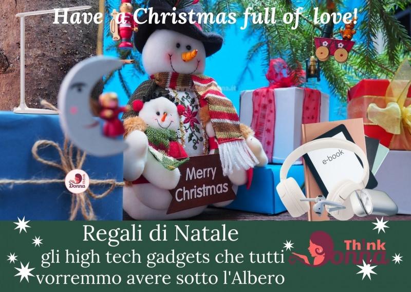 regali natela high tech pupazzo di neve albero have a Christmas full of love cuffie wireless e-reader