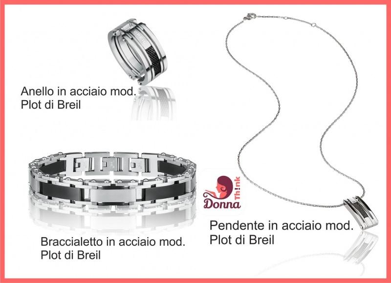 Regali San Valentino per lei e per lui originali, economici e fai da te gioielli breil anello pendente in acciaio bracciale uomo