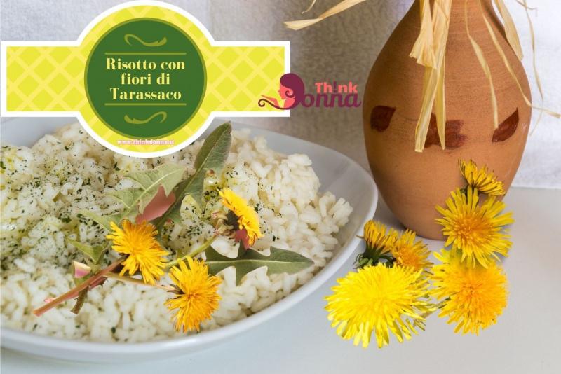 risotto fiori di tarassaco ricetta primo piatto pronto anfora cotto
