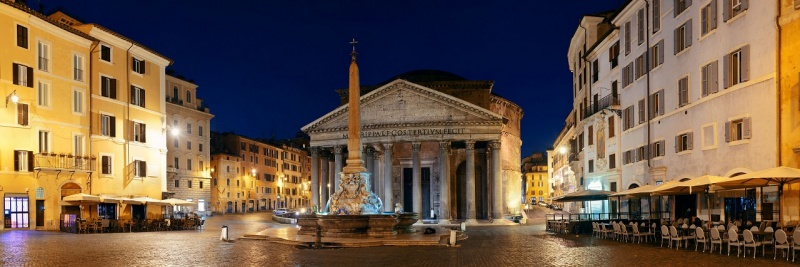 Roma Pantheon di sera