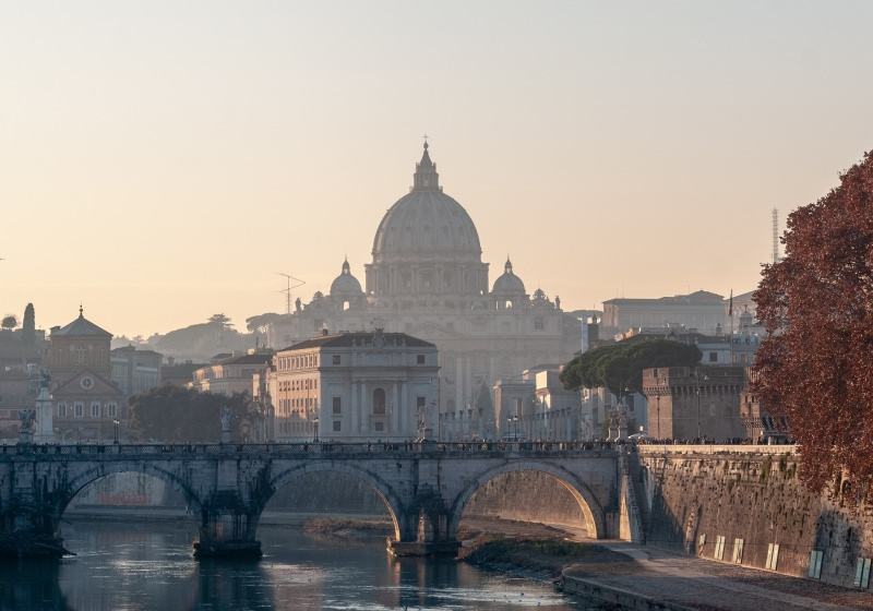 Roma tramonto cupola