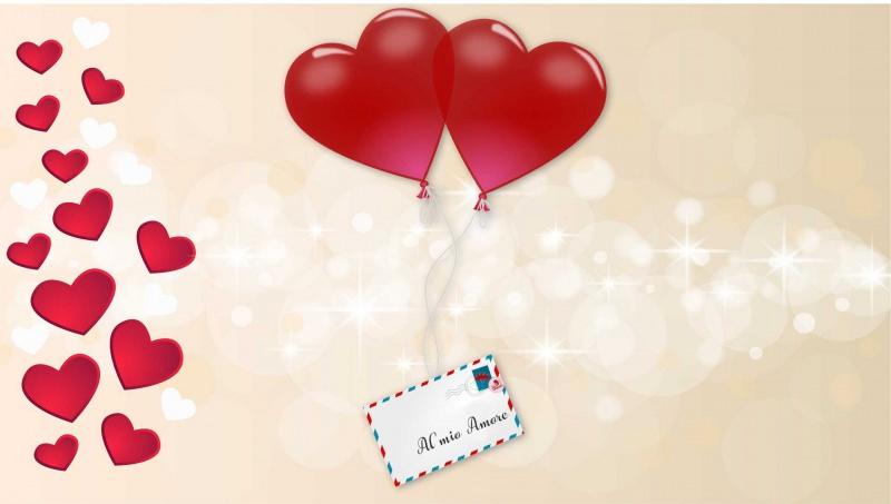 Cosa scrivere su un biglietto di San Valentino: scopri le frasi più belle lettera al mio amore palloncini cuori