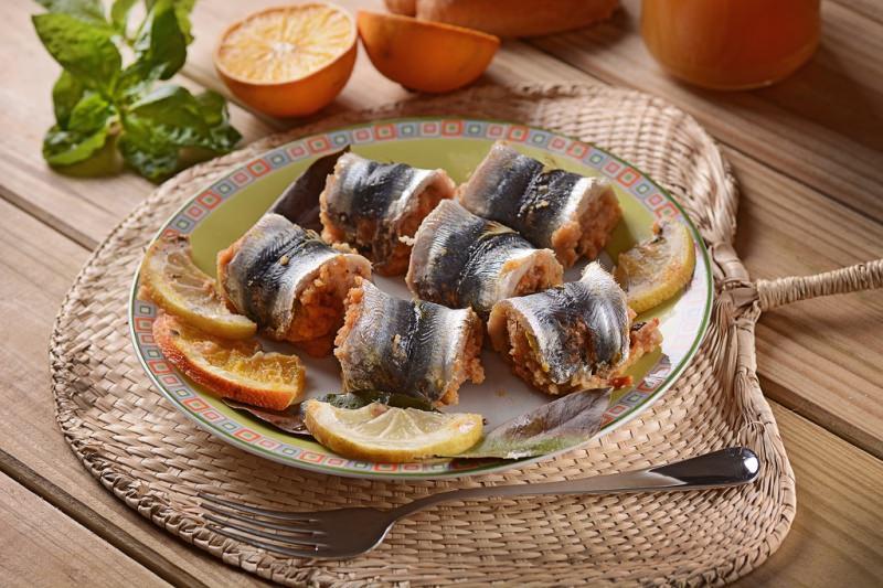 sarde a beccafico piatto pronto arancia basilico