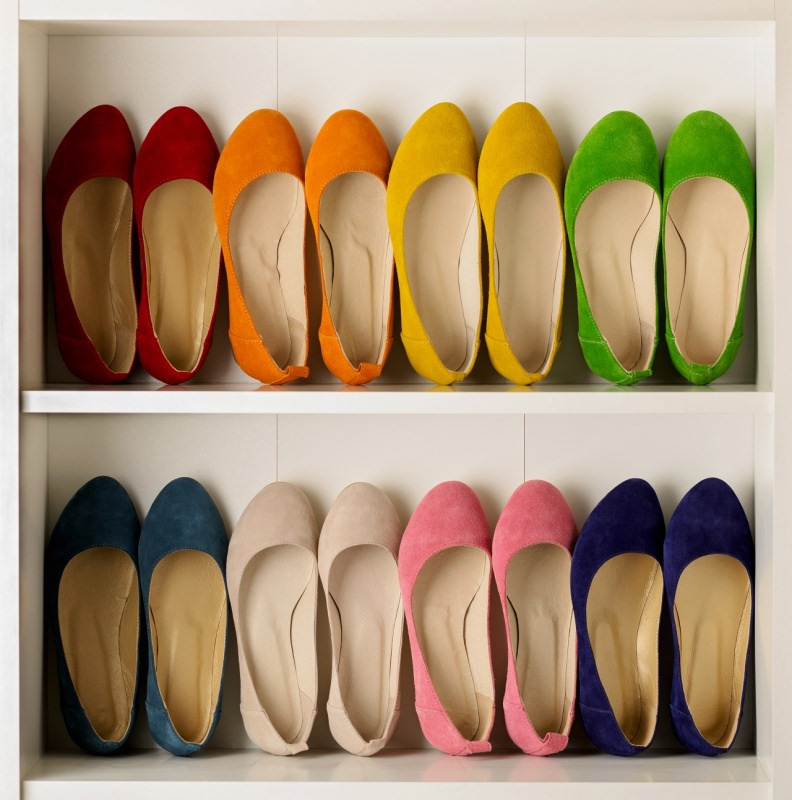 scarpe basse colorate ballerine in armadio