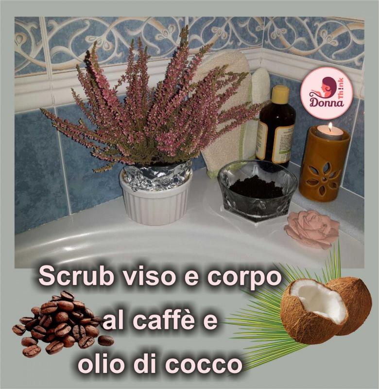 scrub caffè olio di cocco vasca bagno fiori erica rosa