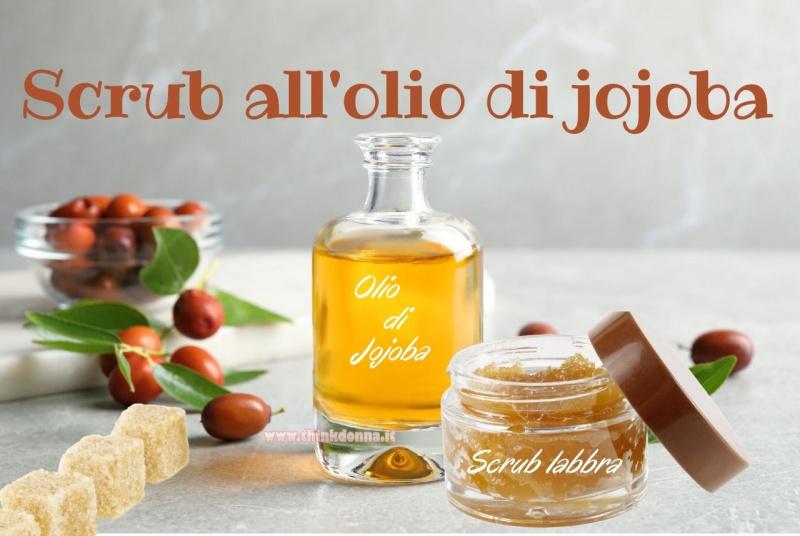 scrub labbra olio di jojoba zucchero di canna zollette